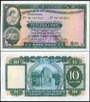 HONG KONG 10 DOLARS 1980 P 182 AU-UNC