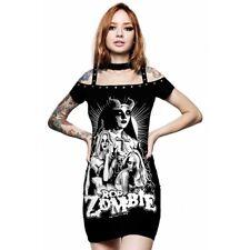 Killstar X Rob Zombie Gothic Punk Minikleid Bodycon Kleid - Lust For Death
