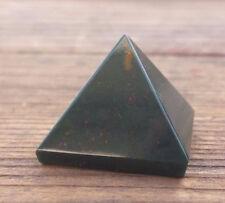 NATURAL BLOODSTONE SMALL GEMSTONE PYRAMID 20-22mm