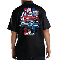Dickies Black Mechanic Work Shirt Ford Motor Shelby Cobra GT 500 Hot Rod 69