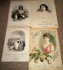 Lot of 8 Mid 19th Century LITHO Covers - Some Color - ARTHUR ROBERTS Comic !