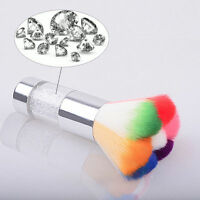Crystal Nail Art Dust Remover Brush Cleaner For Acrylic & UV Nail Gel Powder、Pop