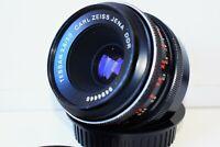 RARE Black Carl Zeiss Jena TESSAR Germany lens 50mm f/2.8 M42 mount EXC