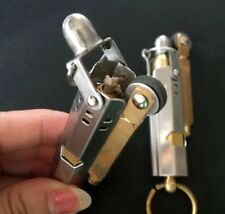 Stainless Steel Brass Vintage Lighter World War 2 Cigar Cigarette Lighter Torch