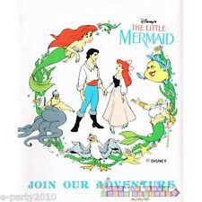 ARIEL THE LITTLE MERMAID INVITATIONS ~ Vintage Birthday Party Supplies Card Note
