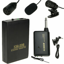 Wireless Microphone Headset FM Transmitter Receiver Mic Lapel Clip Remote System
