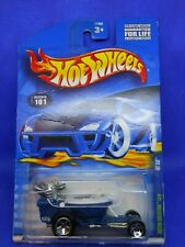2000 HOT WHEELS ~ HOT SEAT ~ VIRTUAL COLLECTION CARS ~ Collector # 101 ~ Blue