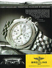 PUBLICITE ADVERTISING 015  2004  BREITLING  la montre CHRONOMAT EVOLUTION