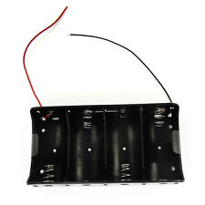 """1x 4 Size D Battery (6V) Clip Holder Case Box with 6"""" wire Lead"""