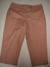 NWT$74 Nine West STRETCH Capri BROWN Crop PANTS  6 / Sm