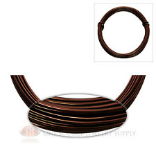 Brown Aluminum Craft Wire Wrapping 12 Gauge Sculpture 39 Ft. Floral Jewelry