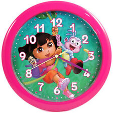 "DORA THE EXPLORER 10"" Wall Clock Pink NEW"