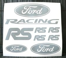 Kit 8 adesivi FORD RACING decal sticker RS sierra escort focus mondeo dtm set