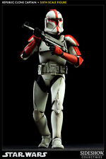 Star Wars Republic Clone Captain Red Figure by Sideshow Collectibles