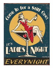 FUNNY VINTAGE STYLE RETRO 1950s METAL SIGN PLAQUE : Come In For A Stiff One....