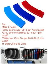 M POWER SPORT LOGO KIDNEY GRILL 3 COLOUR COVER ABS 3 STRIPS BMW 4 SERIES F32 F36