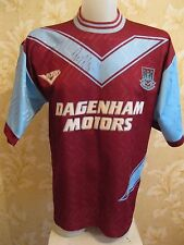 """SIGNED West Ham United 1993/1994/1995 Home Size 38/40"""" Pony shirt jersey maglia"""