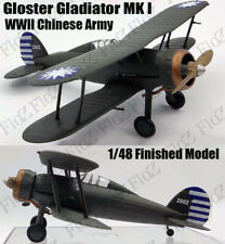 WWII China Army Gloster Gladiator MK I finished aircraft 1/48 Easy model plane