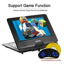 """10.1"""" DVD Player Portable Rechargeable Swivel&Flip,Wide Screen,USB,Game,SD 3D AV"""