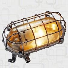 Bunkerlampe Fabrik- Schiffs- Industrie- Design Gitter- Leuchte Ex alt antik EOW