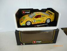 Burago Modellauto 1:18 Ferrari  F 40 TOTTIP IN YELLOW  AS NEW IN Box