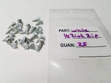 Package of 25 - White- ½ - inch Zinc Gutter Zip Gutter Screws
