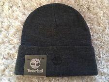 Timberland Men's Knit Beanie Hat Dark Gray NWT