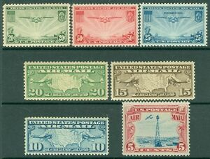 EDW1949SELL : USA Group of 7 XF-Superb, Mint Never Hinged Air Mails. Cat