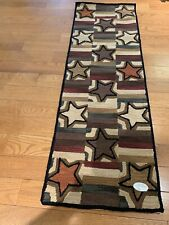 "Star Block Hand Hooked 24"" x 72"" Area Rug. Country Rug by PARK DESIGNS"