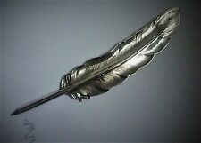 Vintage Sterling Silver Large Feather / Quill Pen Biro 9 inches in length