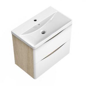 Waschbecken 60 cm mit Unterschrank Waschtisch Badmöbel Set weiß Badezimmer Möbel