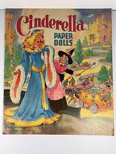 Vintage Paper Dolls 1950 Cinderella Saalfield 2590-10 Ethel Hays art Uncut