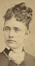 WOMAN WITH HIGH UP DO HAIR STYLE. CDV. PITTSBURGH, PA.