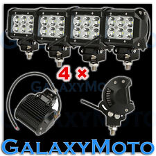 """4x 3.5"""" Cree White 6 LED 18w Flood Beam Off Road Roof Cab Driving Work Light bar"""