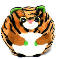 Ty Monaco Tiger Beanie Ballz Ball Stuffed Animal Plush Toy Green Eyes Retired