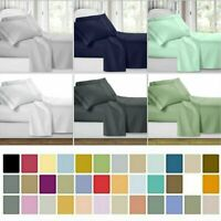 Super Soft 4 Piece Bed Sheet Set Deep Pocket Bedding - All Colors Sizes MY