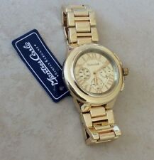 Montres Carlo Gold Women's Watch Roman Numeral Hours Easy To Read Designer Style