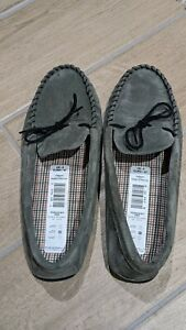 mens New M&S suede moccasin slippers size 8