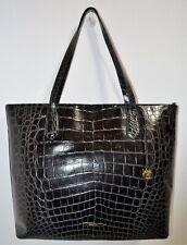 NWT Brahmin Black Veil Textured Leather Extra Large Misha Tote Bag Purse $495