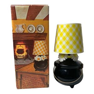 Vintage Avon Hearth Lamp Elusive Cologne 8 fl oz 1976 Black Kettle