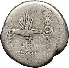 MARK ANTONY Cleopatra Lover 32BC Actium Ancient Silver Roman Coin LEG II i52549