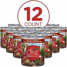 Purina Natural Healthy Adult Canned Wet Dog Food Lamb & Rice 13 oz Cans 12 Pack