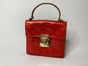 Louis Vuitton Monogram Vernis Red Bag Spring Street Patent Leather