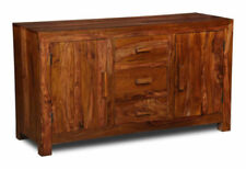 Dark Wood Tone Sideboards with 3 Drawers