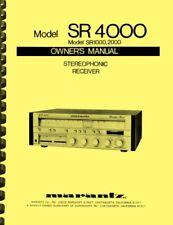 Marantz SR4000 SR1000 SR2000 Receiver 2-in-1 OWNER'S AND SERVICE MANUAL