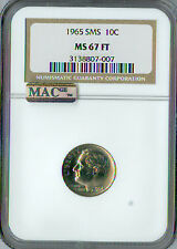 1965 ROOSEVELT DIME NGC MAC MS-67 FT SMS PQ MAC SPOTLESS.