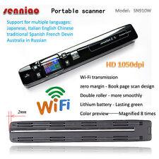 SN910W Handy Scanner Portable scanner HD 1050DPI Mini Scanner with Wireless WiFi