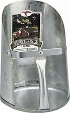 Little Giant Galvanized Feed Scoop Steel Rivoted Handle Flat End 3qt