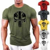 Punisher UK Gym T-Shirt | Bodybuilding Tshirt | GYMTIER Training Clothing Vest