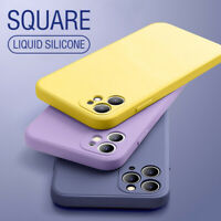 Square Liquid Silicone Simple Cover For iPhone 11 Pro Max XS XR 8 7 6 SE 2020
